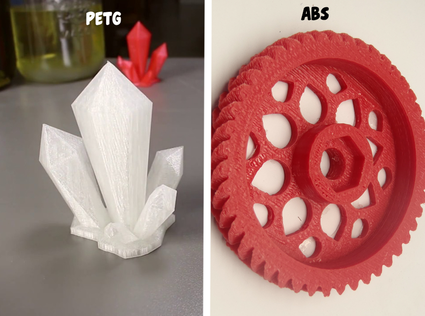 PETG vs. ABS Filaments: Which One to Choose for Your Project?